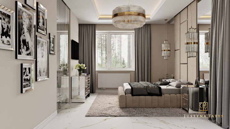 Modern style bedroom by GLAM PROJECT Sp. z o.o. Modern