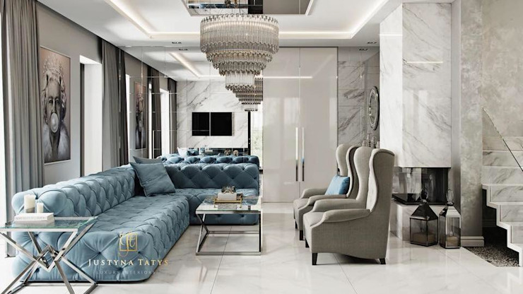 Modern living room by GLAM PROJECT Sp. z o.o. Modern