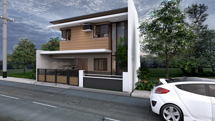 Brand new 2 storey house - Exterior and Surrounding 根據 homify 現代風