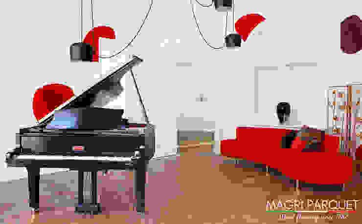 Pavimenti in legno. Tutta un'altra musica. Magri Parquet Soggiorno classico Legno