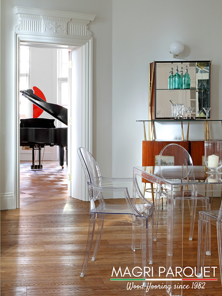 Pavimenti in legno. Tutta un'altra musica. Magri Parquet Sala da pranzo in stile classico