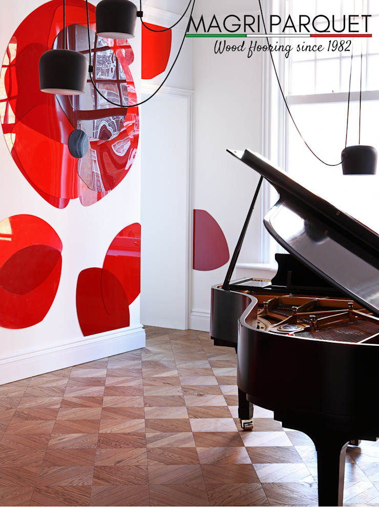 Pavimenti in legno. Tutta un'altra musica. Magri Parquet Soggiorno classico