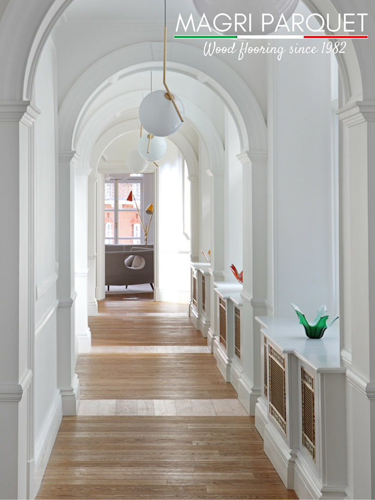 Magri Parquet Classic style corridor, hallway and stairs