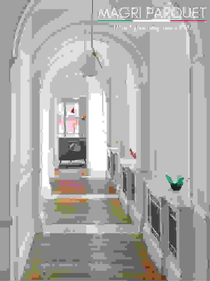 Pavimenti in legno. Tutta un'altra musica. Magri Parquet Ingresso, Corridoio & Scale in stile classico