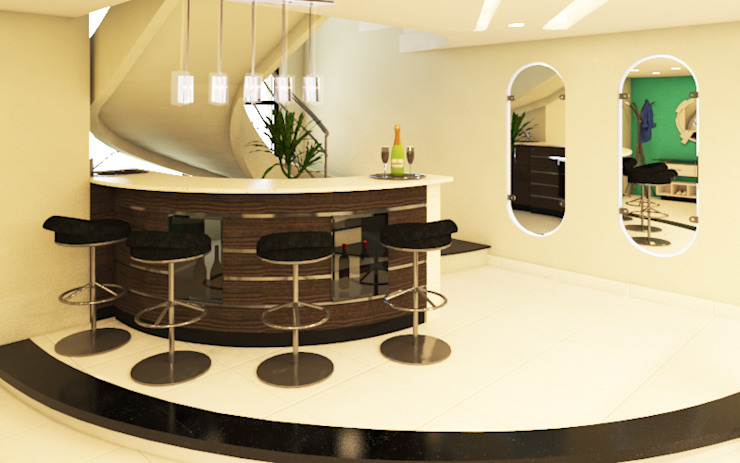 Mini Bar - Escalera de Arquitecto Javier Escobar Moderno Granito