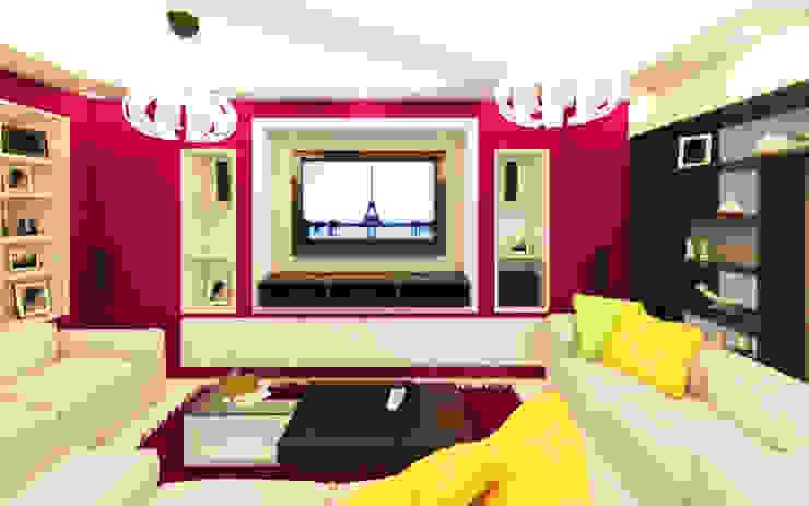 Salon de Arquitecto Javier Escobar Moderno Madera maciza Multicolor
