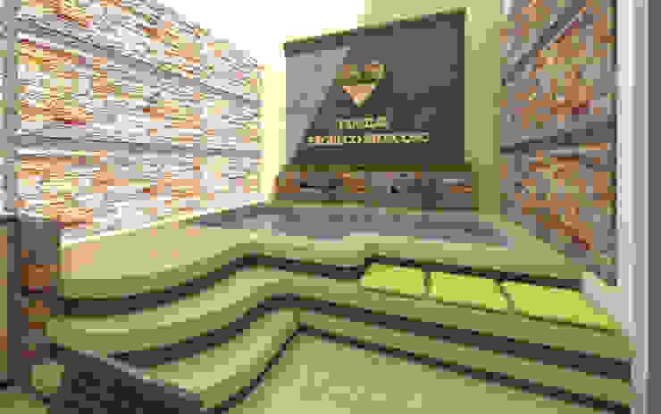 Piscina de Arquitecto Javier Escobar Moderno Piedra