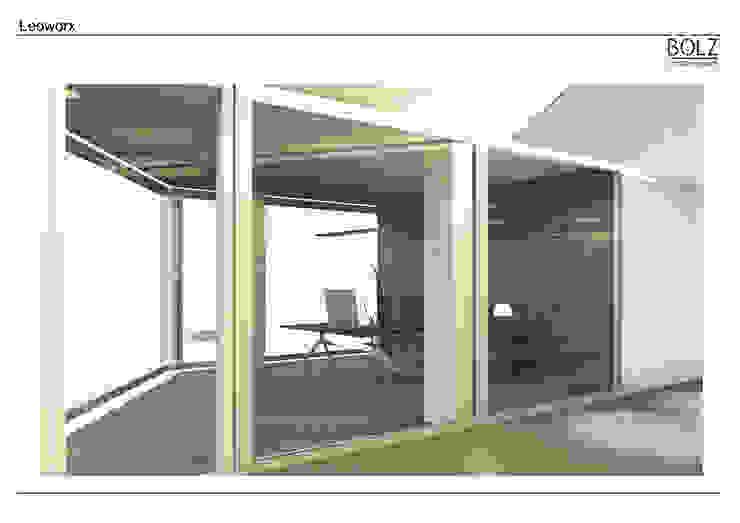 Eckbüro Moderne Bürogebäude von Bolz Licht und Wohnen · 1946 Modern