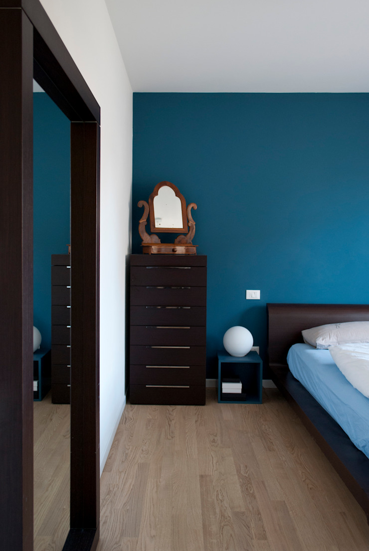 Margherita Mattiussi architetto Kamar Tidur Modern Blue