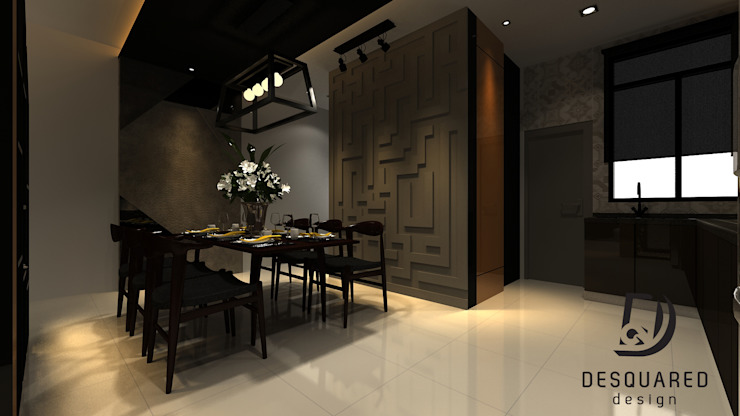 Dining View 1 Modern dining room by Desquared Design Modern