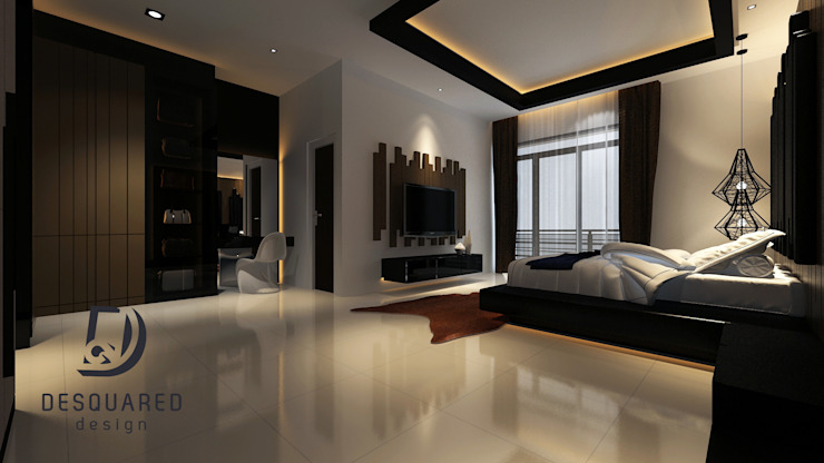 Master Bedroom View 2 Modern style bedroom by Desquared Design Modern