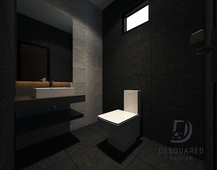 Common Bath Modern style bathrooms by Desquared Design Modern