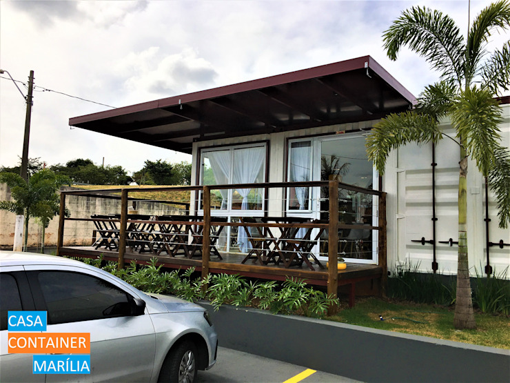 Modern gastronomy by Casa Container Marilia - Arquitetura em Container Modern