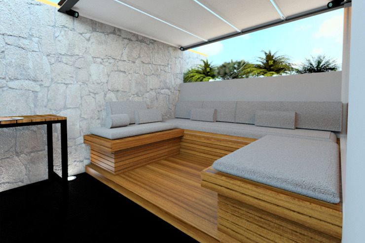 Vista Roofgarden Balcones y terrazas modernos de homify Moderno