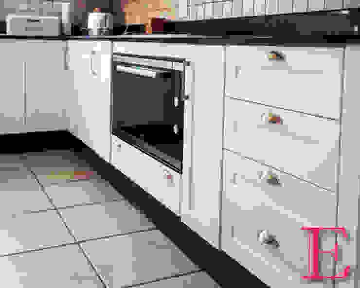 Crisp White & Blue-grey Kitchen by Ergo Designer Kitchens Classic MDF