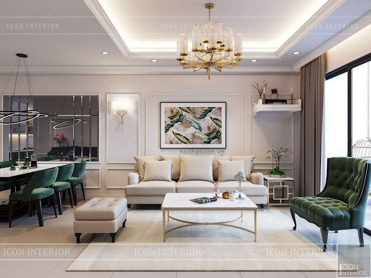 Living room by ICON INTERIOR, Classic