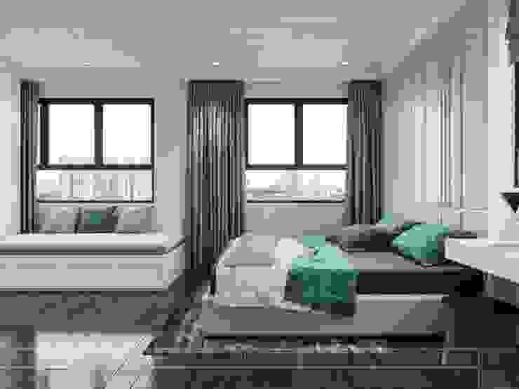 THIẾT KẾ CĂN HỘ CAO CẤP WILTON TOWER – Đẹp thanh lịch trong từng đường nét Phòng ngủ phong cách kinh điển bởi ICON INTERIOR Kinh điển