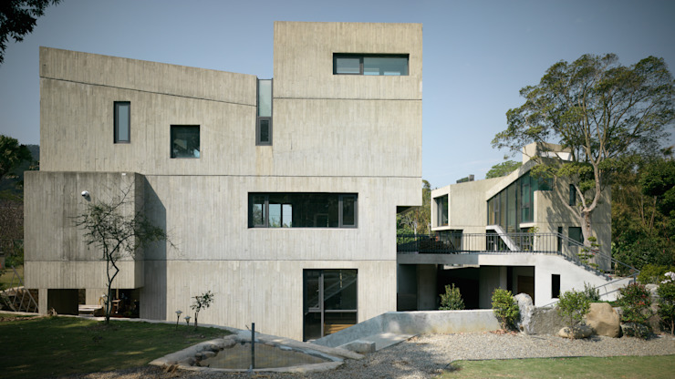 Projekty,  Domy zaprojektowane przez 形構設計 Morpho-Design,