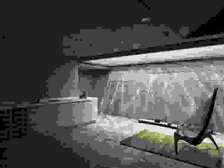 Phòng giải trí phong cách hiện đại bởi 形構設計 Morpho-Design Hiện đại