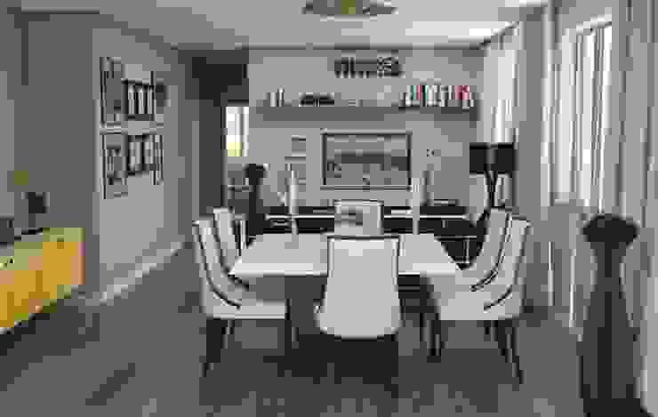 Jantar + Estar Salas de jantar modernas por Santi Arquitetura e Engenharia Moderno