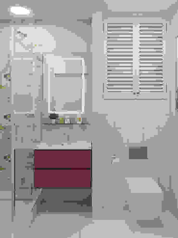 Новое ДОМ СОЛНЦА Ванная комната в скандинавском стиле