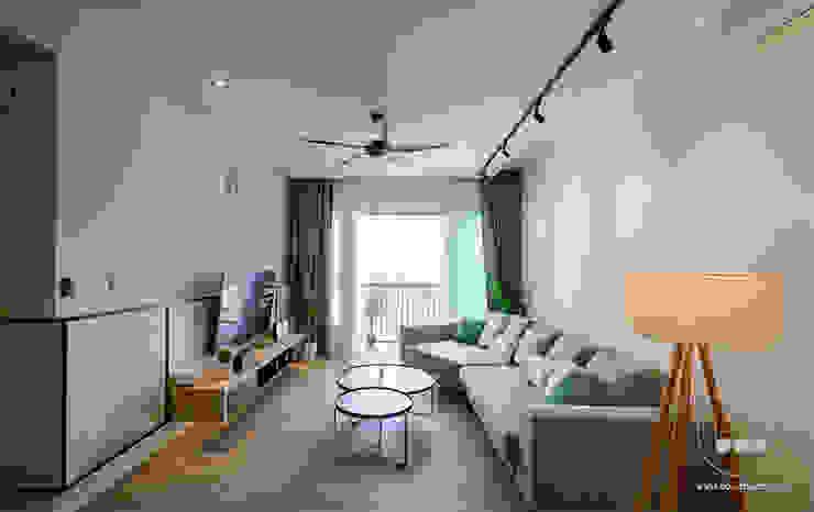 NAUTICA LAKESUITES CONDOMINIUM , KL BOLDNDOT SDN BHD Living room Wood effect