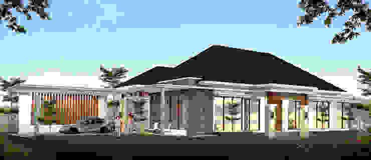 Rumah konsep alam Oleh Ikhwan desain Tropis Batu Bata