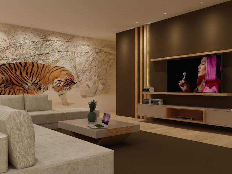 Sala de Estar Salas de estar escandinavas por Angelourenzzo - Interior Design Escandinavo