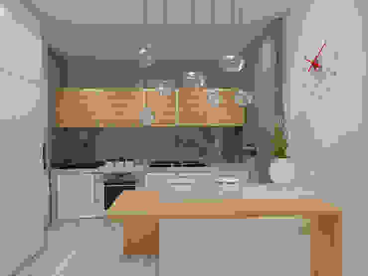 Apartamento Côte D'Azur Angelourenzzo - Interior Design Cozinhas escandinavas