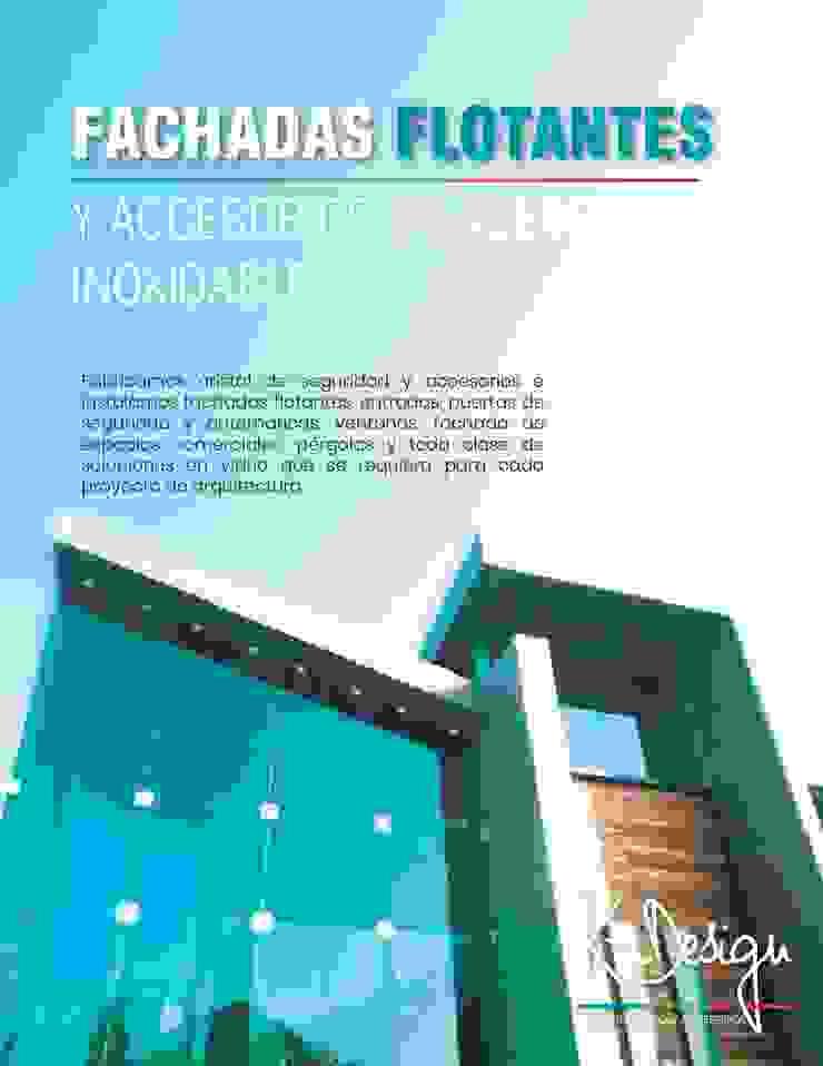 Soluciones en vidrio templado Casas modernas de .K-Design arquitectura y diseño interior Moderno