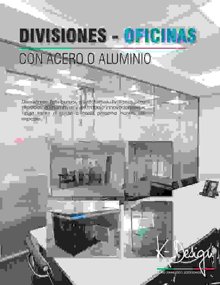 Soluciones en vidrio templado Estudios y despachos de estilo moderno de .K-Design arquitectura y diseño interior Moderno