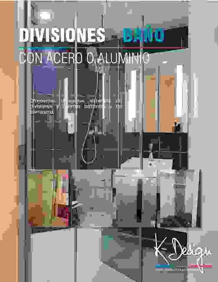 Soluciones en vidrio templado Baños de estilo moderno de .K-Design arquitectura y diseño interior Moderno