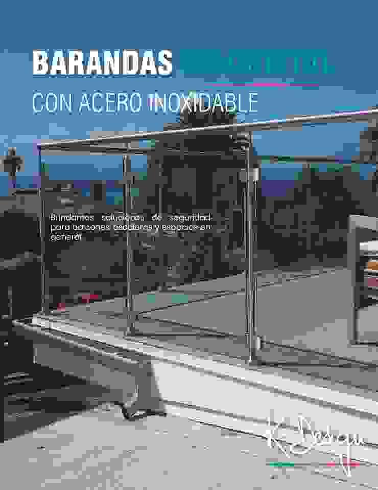 Soluciones en vidrio templado de .K-Design arquitectura y diseño interior Moderno
