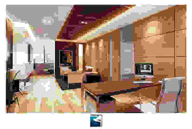 งานออกแบบสำนักงาน Siemens (Thailand ) โดย Blufox eco-solution Co., Ltd. โมเดิร์น