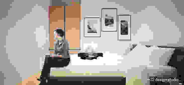 Slice House Pluszerotwo Design Studio Minimalist bedroom