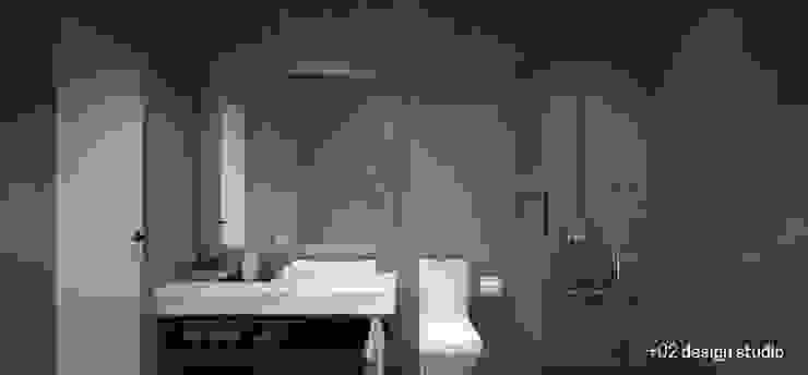 Slice House Pluszerotwo Design Studio Minimalist style bathroom
