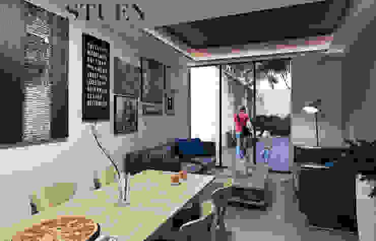 Torre Stuen Salones modernos de Stuen Arquitectos Moderno Madera Acabado en madera