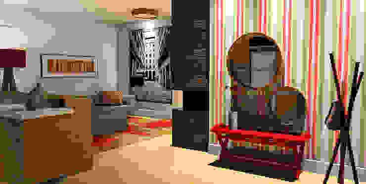 LOFT Caren Stellfeld - Decoração de Interiores Corredores, halls e escadas modernos
