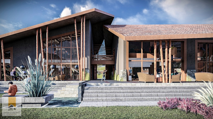 Fachada Interior de FRANCO CACERES / Arquitectos & Asociados Rústico