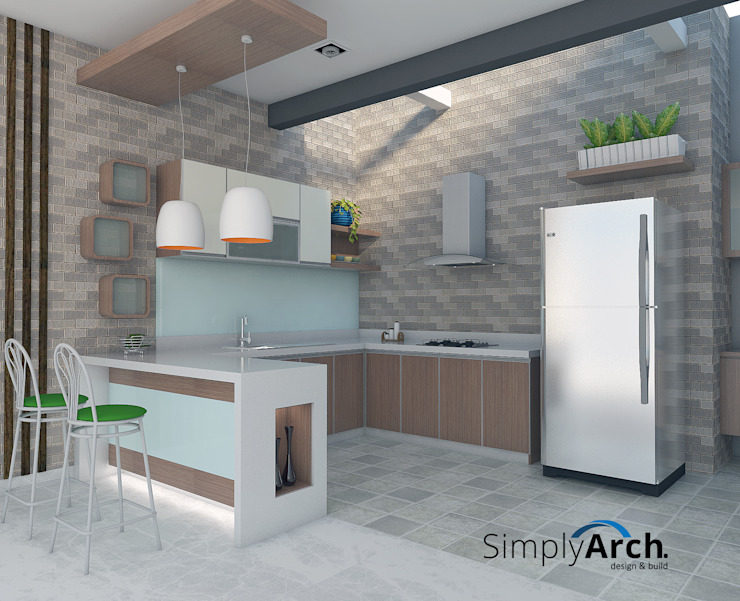 Minimalist and Spacious Kitchen by Simply Arch. Minimalist