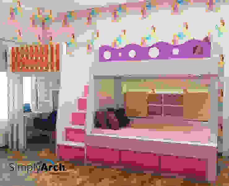 Children's Bunk Bed Scandinavian style bedroom by Simply Arch. Scandinavian