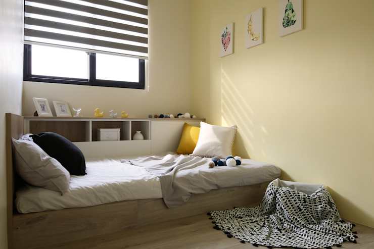 日式無印收納宅 小孩房 根據 達譽設計 北歐風 複合木地板 Transparent