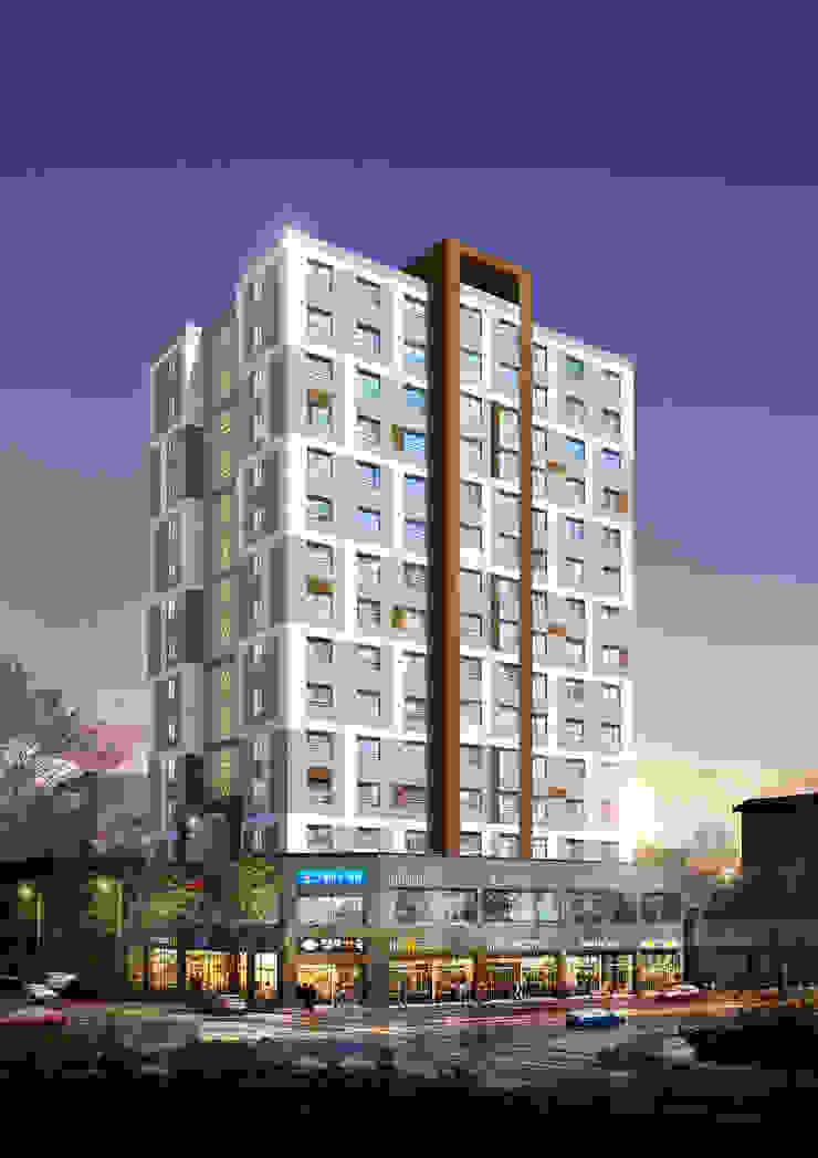 용두동 복합빌딩 모던스타일 주택 by 위 종합건축사사무소 모던