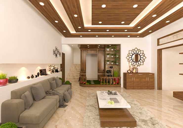 pooja area by Samanta's Studio Modern Plywood