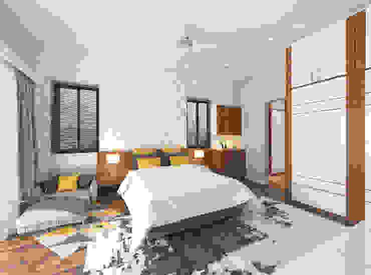 Guest bedroom Modern Bedroom by Samanta's Studio Modern MDF