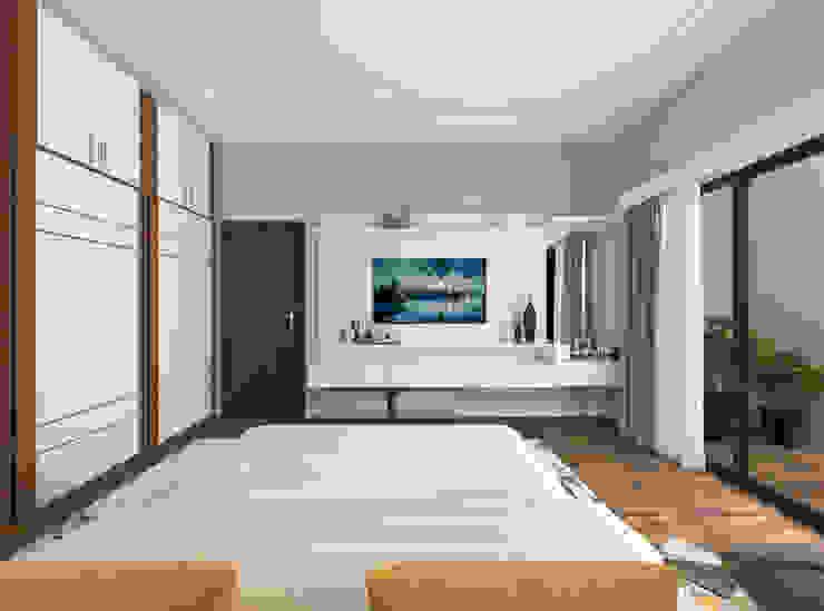 Dressing with tv unit Modern Bedroom by Samanta's Studio Modern MDF