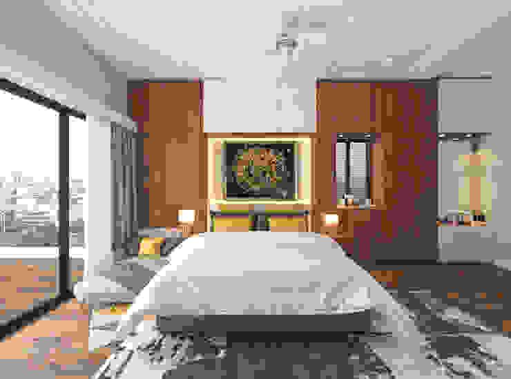 Master Bedroom Modern Bedroom by Samanta's Studio Modern Wood Wood effect