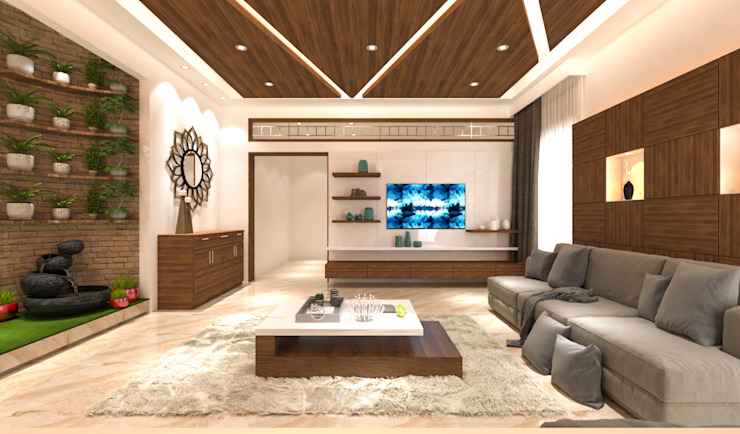 Living area tv unit:  Living room by Samanta's Studio,