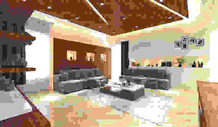 Living Area Modern Living Room by Samanta's Studio Modern Wood Wood effect