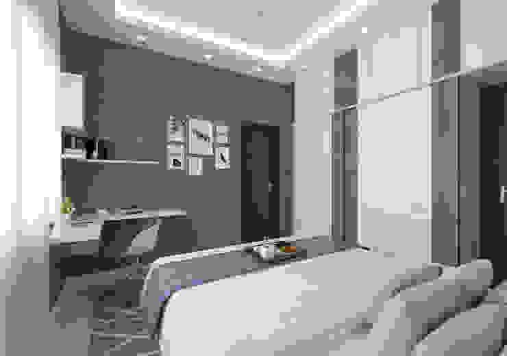1st son bedroom study Modern Bedroom by Samanta's Studio Modern Plywood